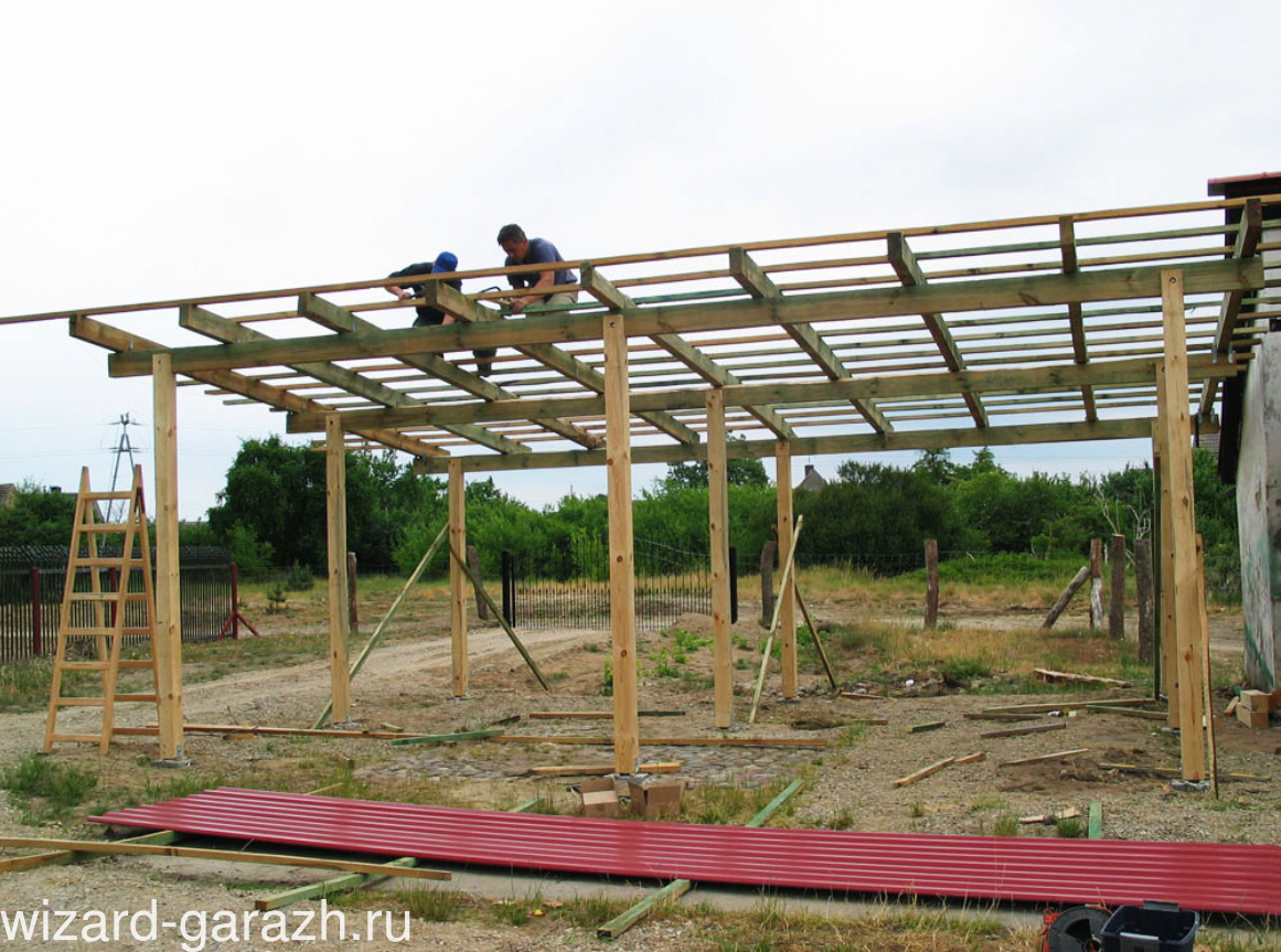 Навес деревянный на даче из поликарбоната своими руками фото 955